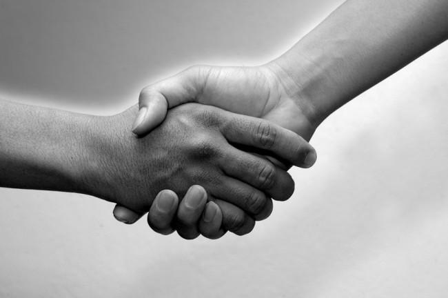 black-and-white-shake-hands