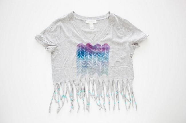 Μεταμορφώνω το παλιό μου t-shirt σε μοδάτη μπλούζα παραλίας  9ec327fc758