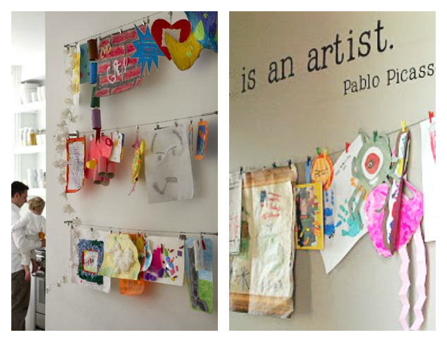 21-Ways-to-Display-Kids-Artwork-Hang-them-on-a-display-wire (1)