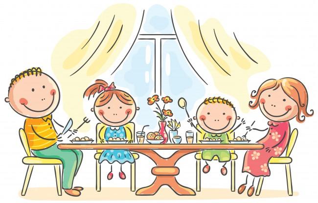 cartoon-family-eating-dinner-361819
