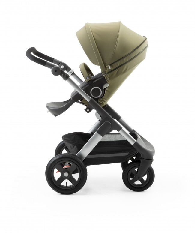 Stokke Stroller Seat Style Kit Olive with Trailz chassis 150429-5772