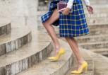 04-bright-yellow-high-heels-plaid-skirt-street-style-w724