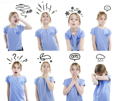 a2ab8f444cc Girl with different emotions