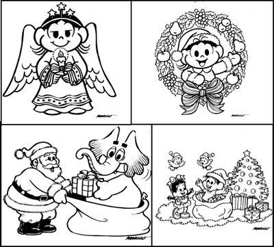 desenhos-colorir-turma-da-monica-natal