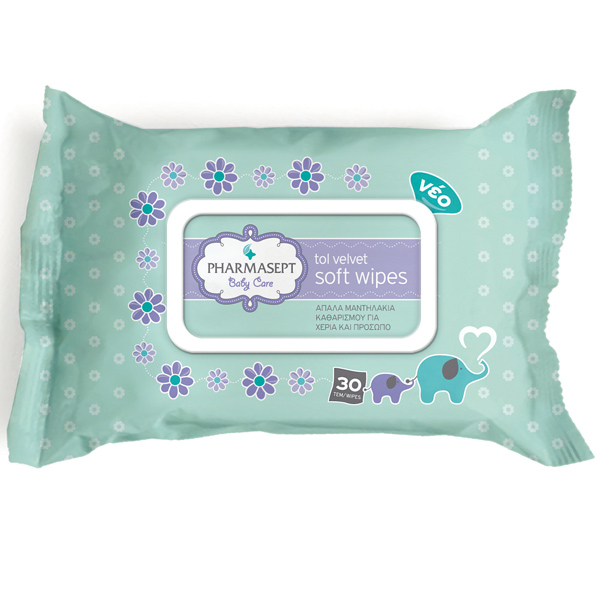 Tol Velvet Baby Soft Wipes (30 τμχ)