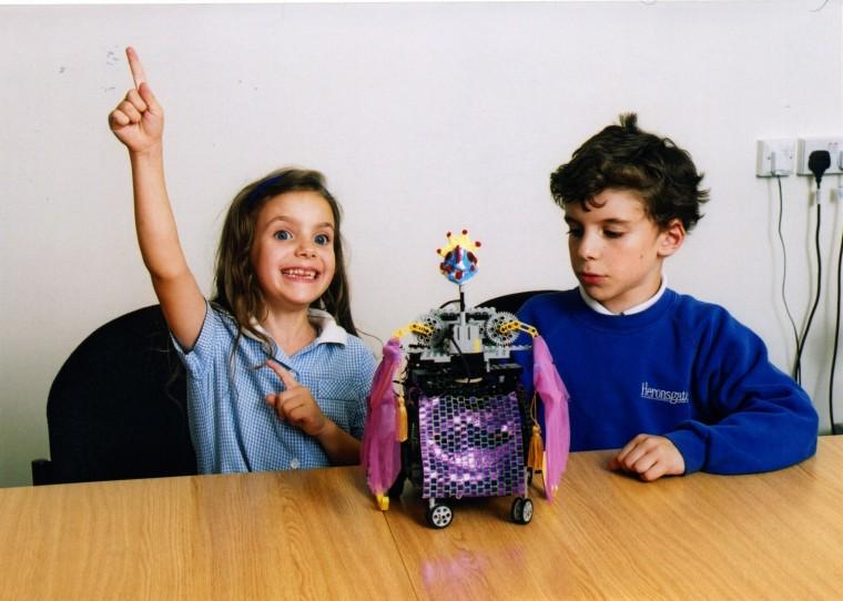 Children and robot