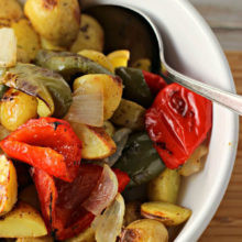roasted potatoes, onions, and peppers HERO