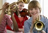 kids-in-band-playing-trumpets-and-violin