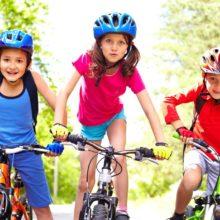kids bicycling