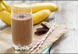 milkshake σοκολάτα μπανάνα