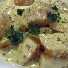 Πατάτες φούρνου με τυρί κρέμα