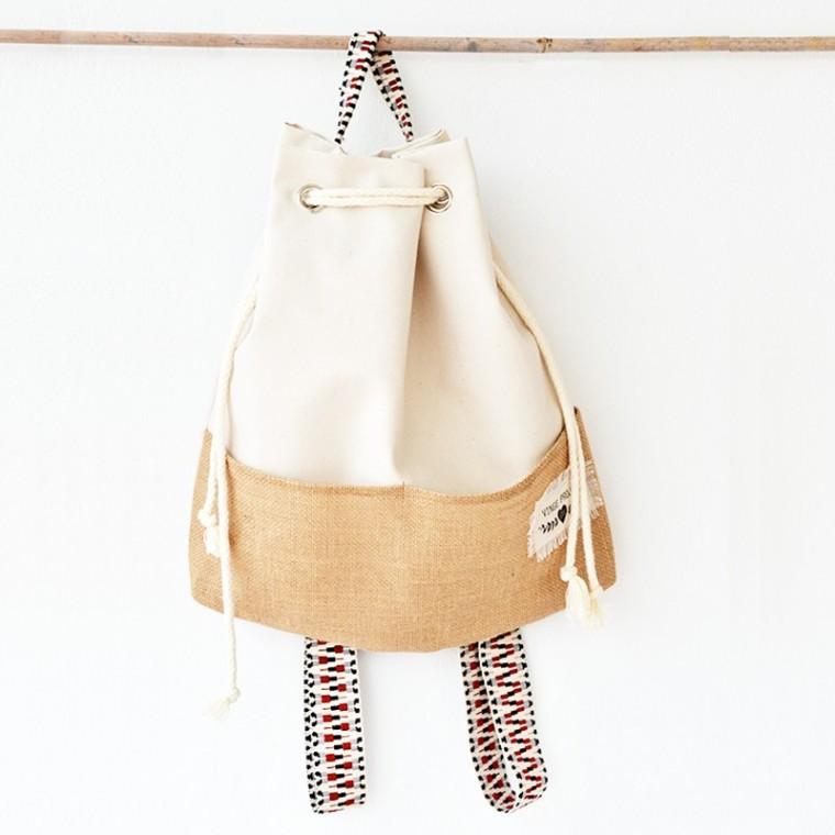 Vinge Project  Beige Hermosa Backpack (από 60€ τώρα 51€)
