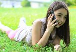 girl talking on smartphone