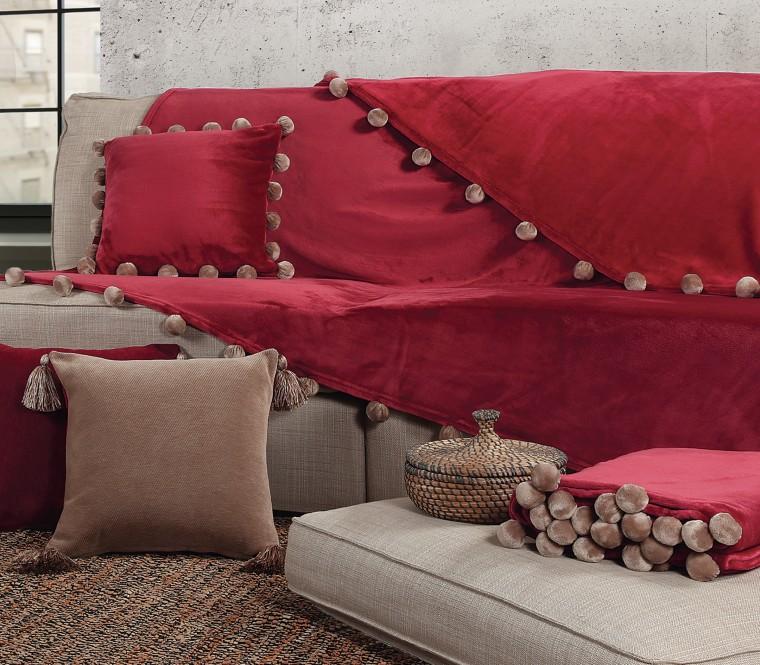 Ριχτάρια Pom-Pom & Διακοσμητικό μαξιλάρι Tanger
