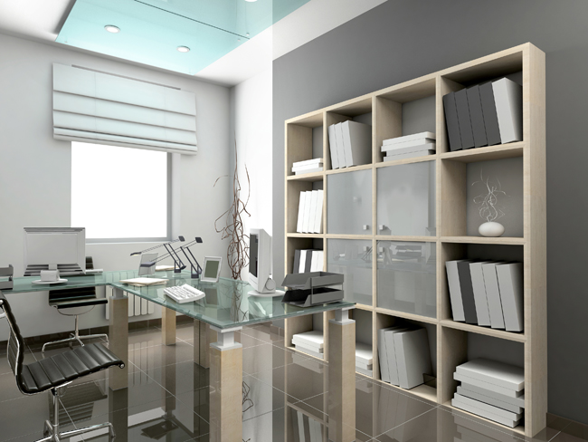 Modern interior. 3D render. Office. Exclusive design.