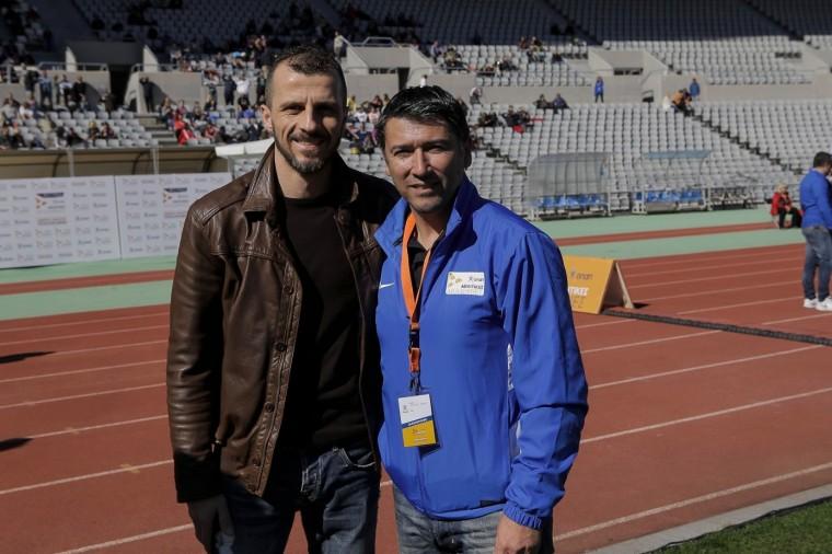 Νίκος Αργυρόπουλος - Αρχηγός ομάδας μπάσκετ του Απόλλωνα Πάτρας (αριστερά) Κώστας Τσάνας - Επικεφαλής προπονητικής ομάδας Αθλητικών Ακαδημιών ΟΠΑΠ (δεξιά)