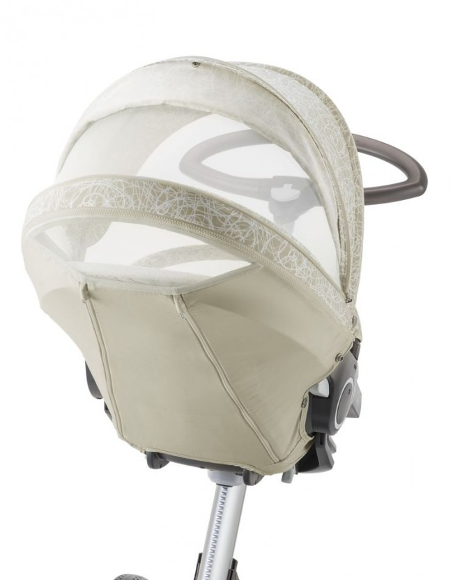 Stokke Stroller Summer Kit Scribble Sandy Beige with Xplory chassis 141022-9599