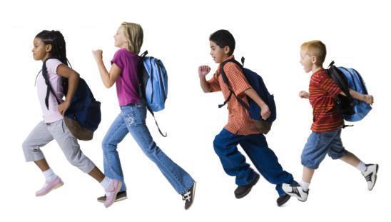παιδιά με τις σχολικές τους τσάντες