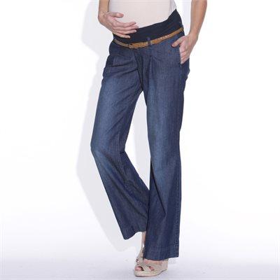 6c9910727a0f Απαραίτητο ρούχο είναι και το τζιν! Στο www.laredoute.gr βρήκαμε αυτό το  τζιν παντελόνι εγκυμοσύνης, με ζώνη από ζέρσεϊ 98% βαμβάκι, 2% ελαστάνη, ...