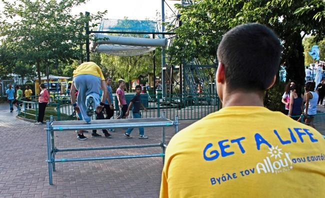 Parkour Show @ Allou! Fun Park - 3