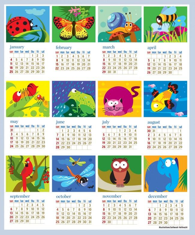 Kids Calendar Design : Προγραφικές ασκήσεις infokids
