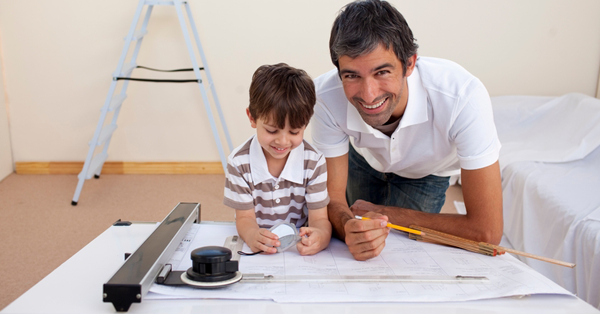architect-dad-working-with-son