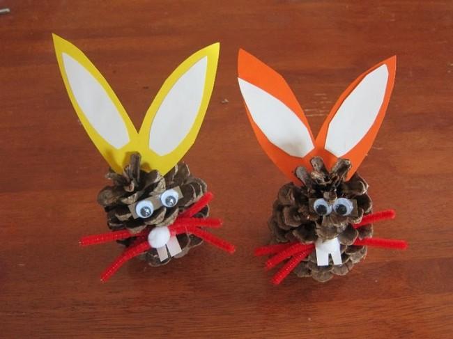 pinecone bunnies 2