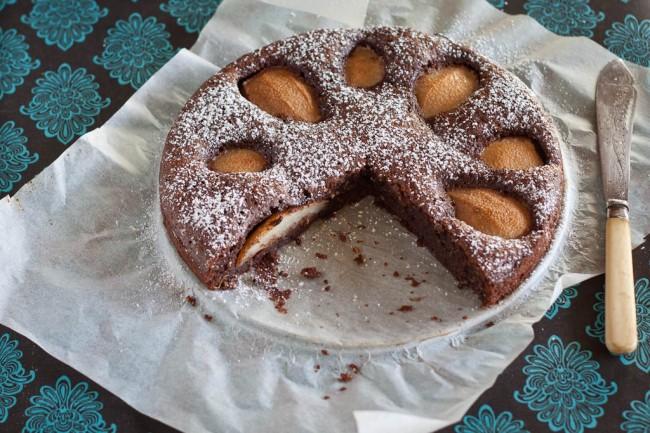 Kέικ με αχλάδια και σοκολάτα