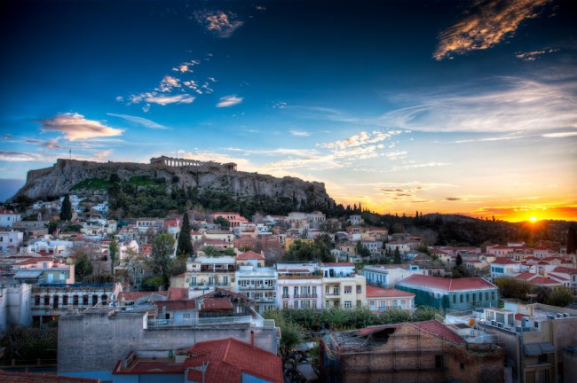 HDR-Photo_Athens-Greece_Acropolis-Sunset