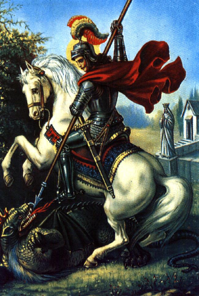 ο Άγιος Γεώργιος φονεύοντας τον δράκο