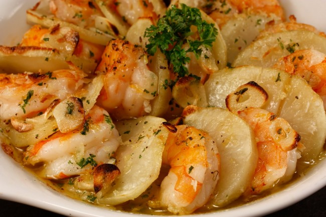 Chef Chuck's Baked Shrimp with Potatoes08