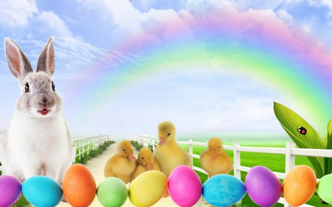 easter-bunny-lane-clouds-colored-easter-eggs-ducklings-ducks-1200x1920
