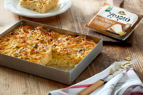 Πίτα – ομελέτα με μακαρόνια, έτοιμη σε 20΄