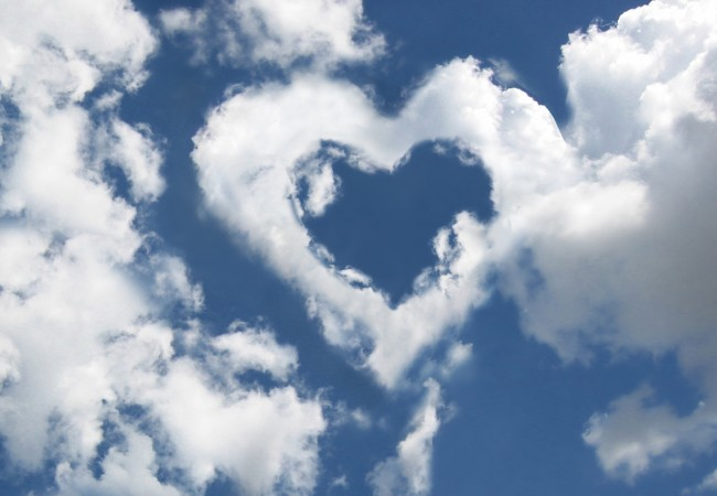 Lovingly - Clouds with heart shape