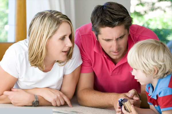 mom-dad-son-budget-conversation