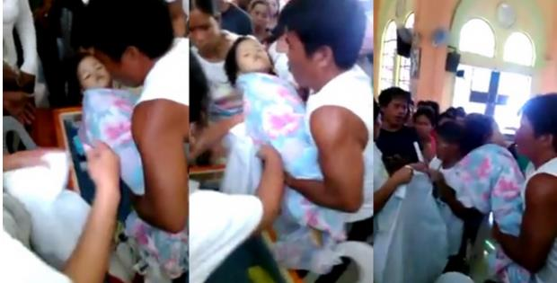 Κοριτσάκι τριών ετών αναστήθηκε την ώρα της κηδείας του – Δείτε το video