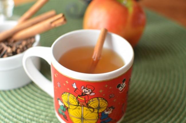 hot cider for kids wtih cinnamon stick