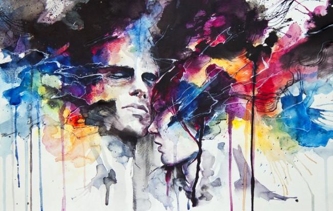 love-relationship-couple-drama-art-watercolor-painting-portrait-splash-drip-splatter-paint-ink-art