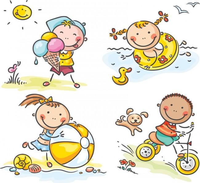 summer-kids-illustration-vector