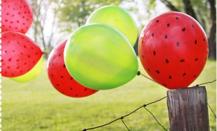 Ιδέες για γενέθλια και πάρτι: σήμερα που γιορτάζω, θα κάνω καρπουζο-Πάρτι!