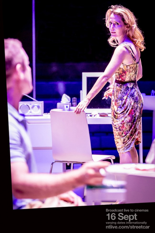 11 Stanley Kowalski (Ben Foster) and Blanche DuBois (Gillian Anderson). Photo by Johan Persson