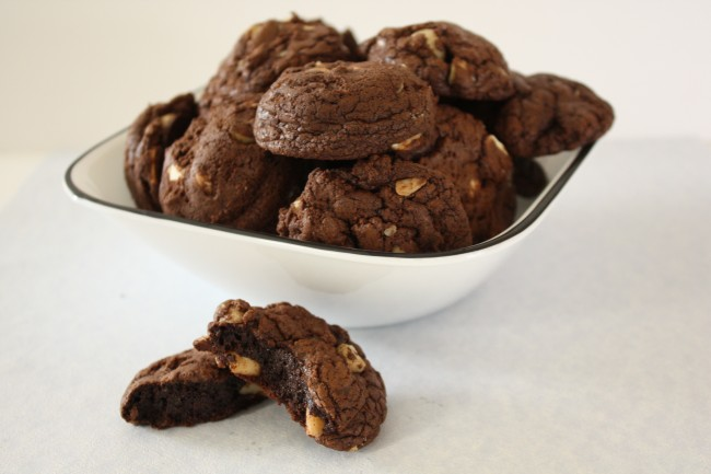 Chocolate Cookies with  Nuts