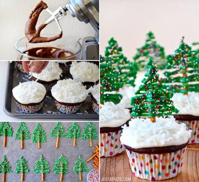Cupcakes Χριστουγεννιάτικο δέντρο