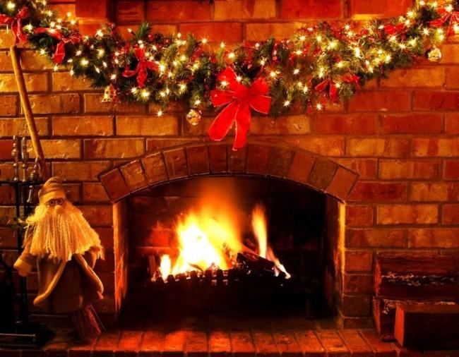 στολισμός τζακιού τα χριστούγεννα