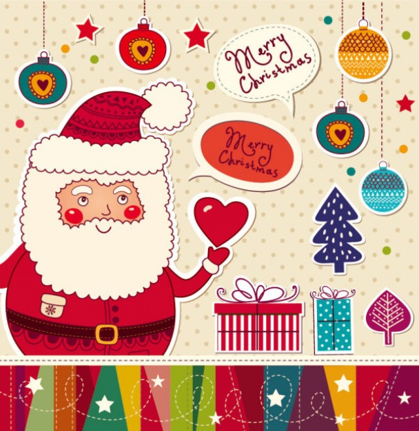 christmas-cartoon-stickers-background-vector-material_34-58792
