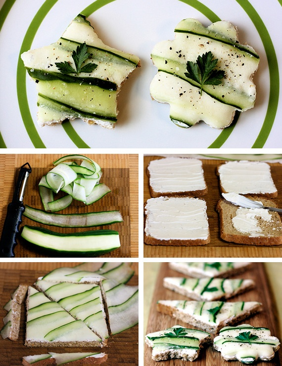 christmas-party-appetizers-ideas-sandwiches-cookie-cutter-cucumber-slices