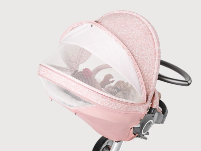 Stokke Stroller Summer Kit Scribble Faded Pink with Xplory Chassis 141113-0614