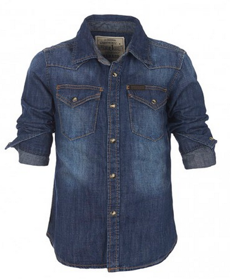 Παιδικό πουκάμισο Marasil, από τζην ύφασμα με ειδικές επεξεργασίες, για used εφε, 39,90€