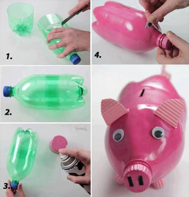 Ανακύκλωση και παιχνίδι: Ένας κουμπαράς – γουρουνάκι, από μπουκάλι! Δείτε τις οδηγίες βήμα βήμα!