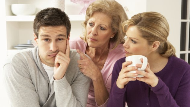 Senior Mother Interferring With Couple Having Argument